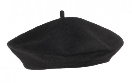 Baret - Wool Fashion Beret (zwart)