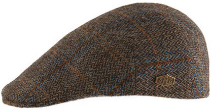Flat cap - MJM Country Harris Tweed (bruin)