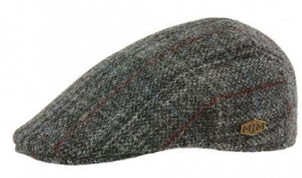 Flat cap - MJM Country Harris Tweed Check (grijs)