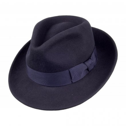Hoeden - Crushable C-Crown Fedora (marineblauw)