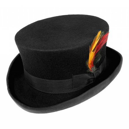 Hoeden - Deadman Top Hat (zwart)