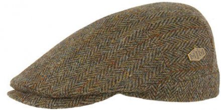 Flat cap - MJM Hunter Harris Tweed (groen)