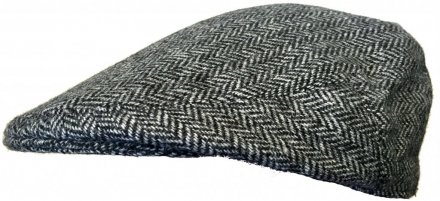 Flat cap - Lawrence and Foster Garforth (grijs herringbone)