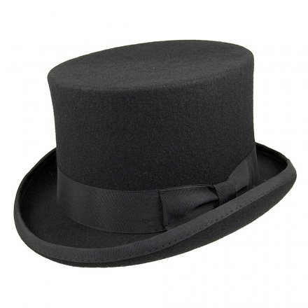 Hoeden - Mid-Crown Top Hat (zwart)
