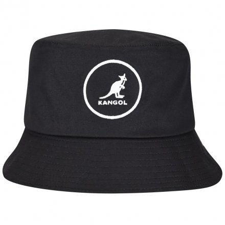 Hoeden - Kangol Cotton Bucket (zwart)