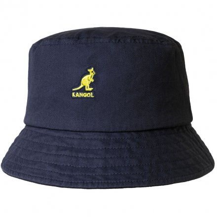 Hoeden - Kangol Washed Bucket (marineblauw)