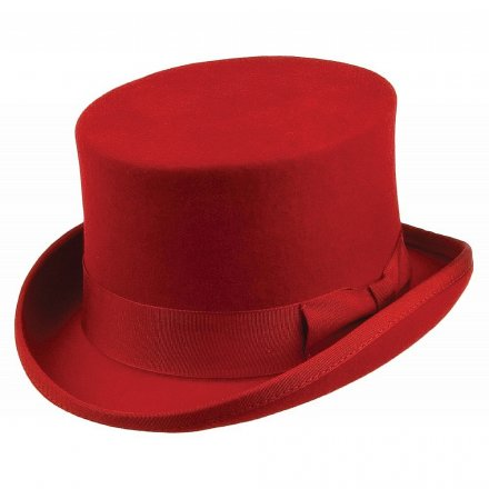 Hoeden - Mid-Crown Top Hat (rood)