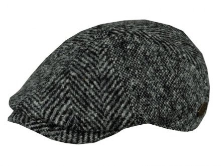 Flat cap - MJM Rebel Wool Patch (grijs)