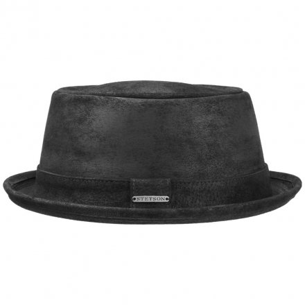 Hoeden - Stetson Hobbs Leather (zwart)