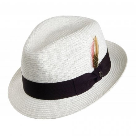 Hoeden - Toyo Braided Trilby (wit)