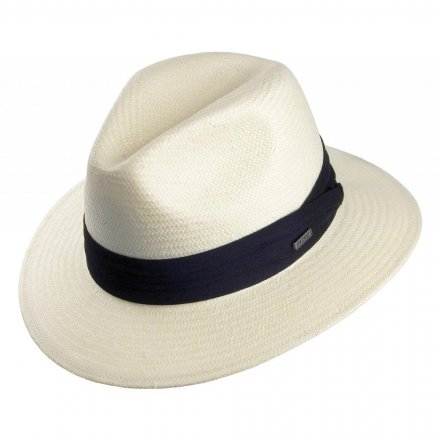 Hoeden - Toyo Safari Fedora With Black Band (wit)