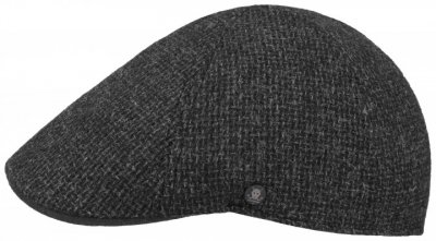 Flat cap - Stetson Texas Wool Rough (antraciet)