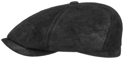 Flat cap - Stetson Brooklin Leather (zwart)