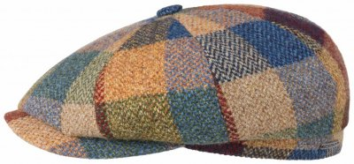 Flat cap - Stetson Hatteras Lambswool Patchwork (multi)