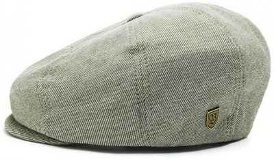Flat cap - Brixton Brood (groen-wit)