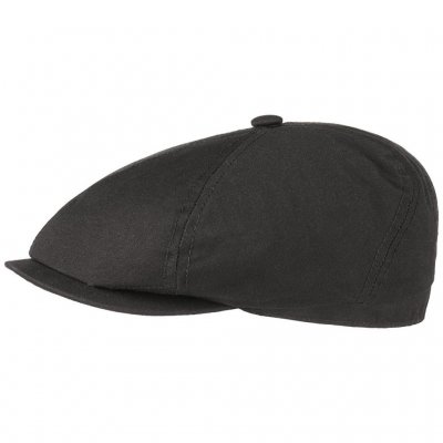 Flat cap - Stetson Brooklin Canvas (zwart)