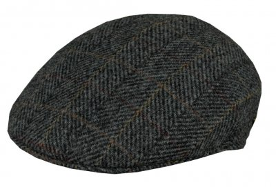 Flat cap - MJM Country Harris Tweed (grijs)