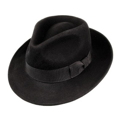 Hoeden - Crushable C-Crown Fedora (zwart)