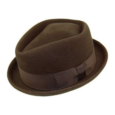 Hoeden - Diamond Crown Pork Pie Hat (bruin)