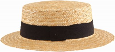 Hoeden - Gårda Capri Boater Black Band (naturel)