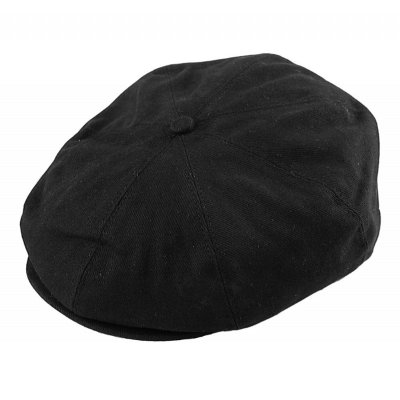 Flat cap - Jaxon Hats Cotton Newsboy Cap (zwart)
