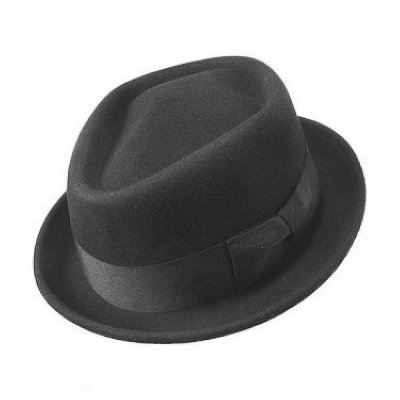 Hoeden - Diamond Crown Pork Pie Hat (zwart)