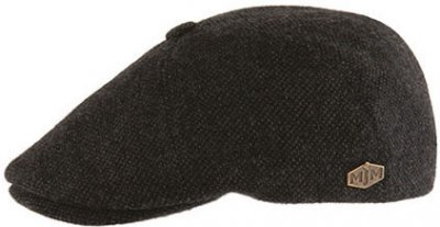 Flat cap - MJM Rebel Eco Merino Wool (antraciet)