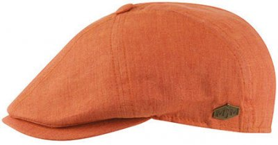 Flat cap - MJM Rebel Linen (orange)