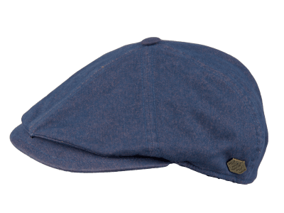 Flat cap - MJM Rebel Cotton (blauw)