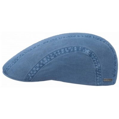 Flat cap - Stetson Madison Cotton (blauw)