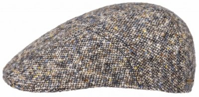 Flat cap - Stetson Ivy Cap Donegal Tweed (blauw mix)