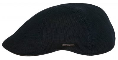 Flat cap - Stetson Texas Cotton Knit (zwart)