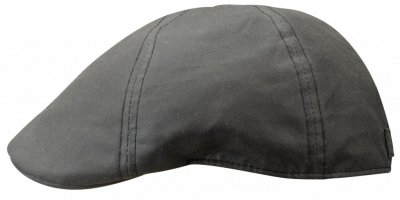 Flat cap - Stetson Texas Waxed Cotton (zwart)