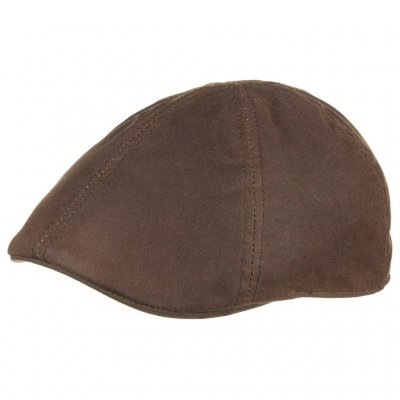 Flat cap - Stetson Texas Waxed Cotton (bruin)