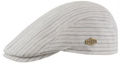Flat cap - MJM Young Cotton (beige-blauw)