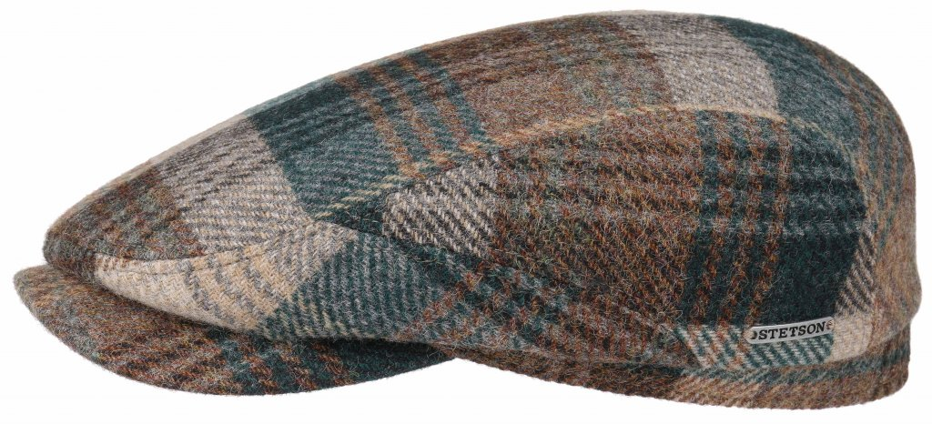 cheapest nice cheap online here Flat cap - Stetson Belfast Woolrich Check (blauw-bruin)