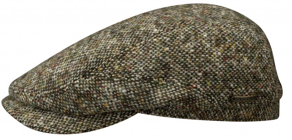 30b2315140a Flat cap - Stetson Belfast Donegal Tweed (groen mix) - Flat caps ...