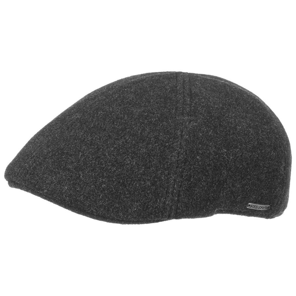 8b6b890d7fa Flat cap - Stetson Texas Wool/Cashmere (antraciet)
